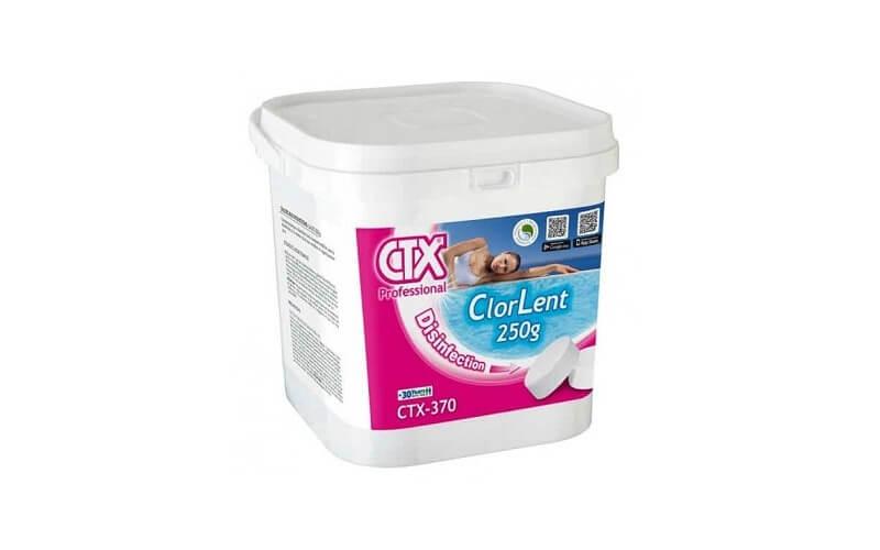 Compresse di cloro lento tricloro 250g CTX-370 - Prodotti chimici per piscine