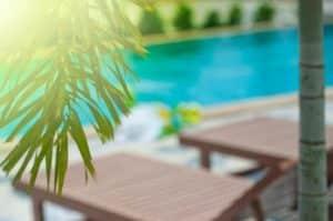 Apertura della piscina per la stagione estiva a Verona. Messa in funzione della piscina per l'estate